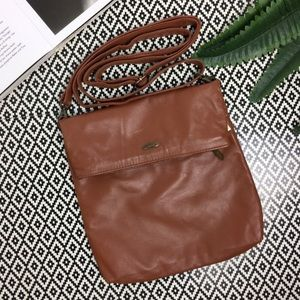 Cuoieria Fiorentina Brown Leather Crossbody Bag